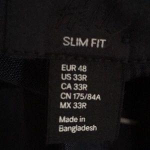 fff493f778c885 H&M Suits & Blazers   H M Slim Fit Dark Blue Suit   Poshmark